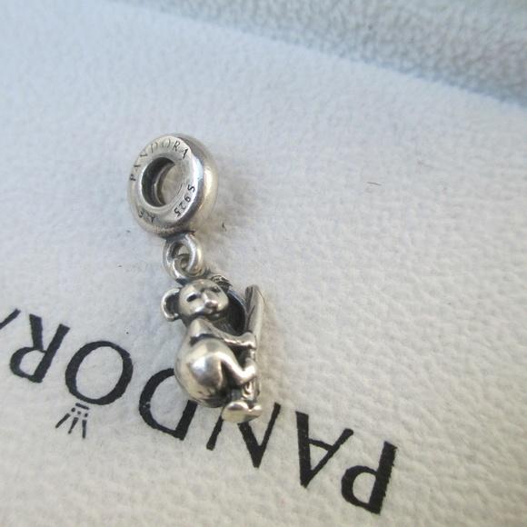Pandora Koala Bear Silver Dangle Charm Bead 791085
